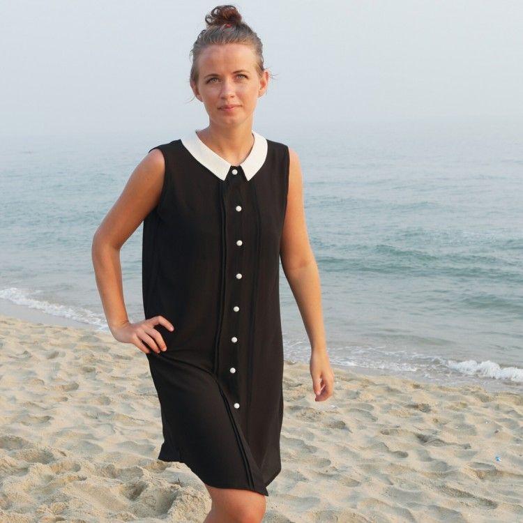 Skjortklänning Svart - Odd-Living.com