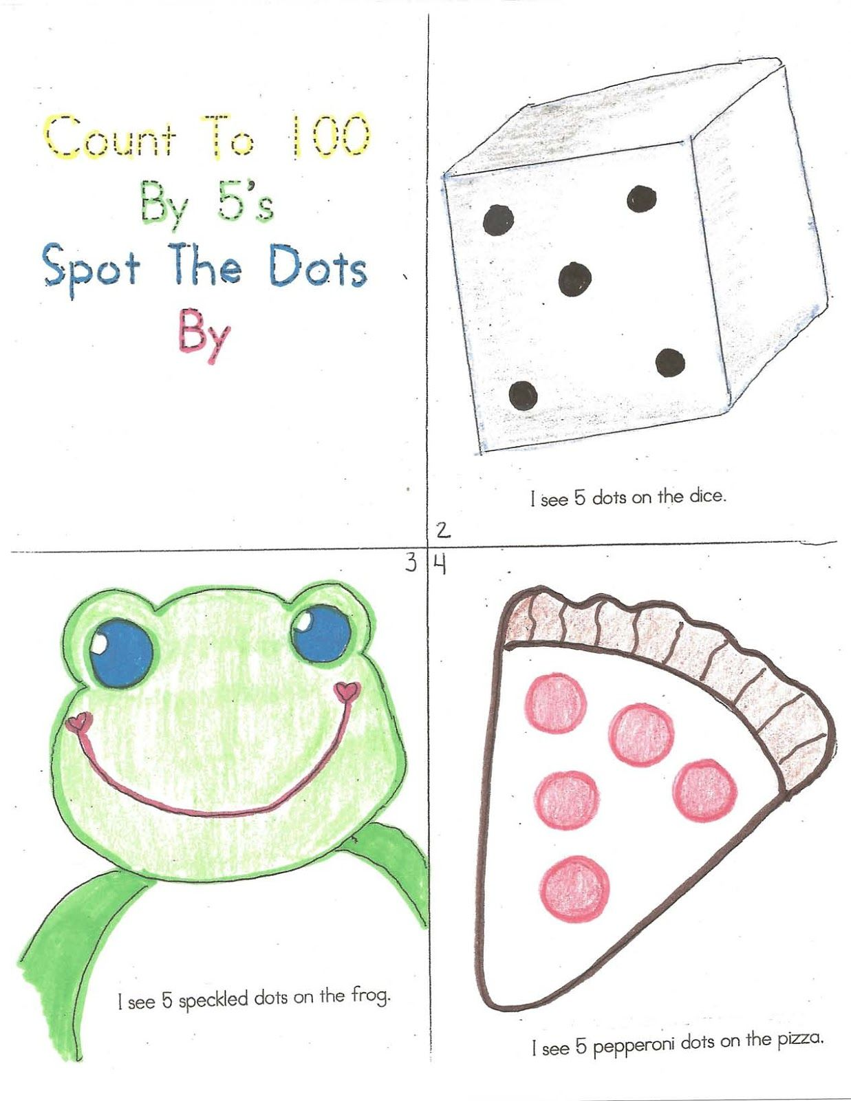 100 Day Count By 5 S Booklet