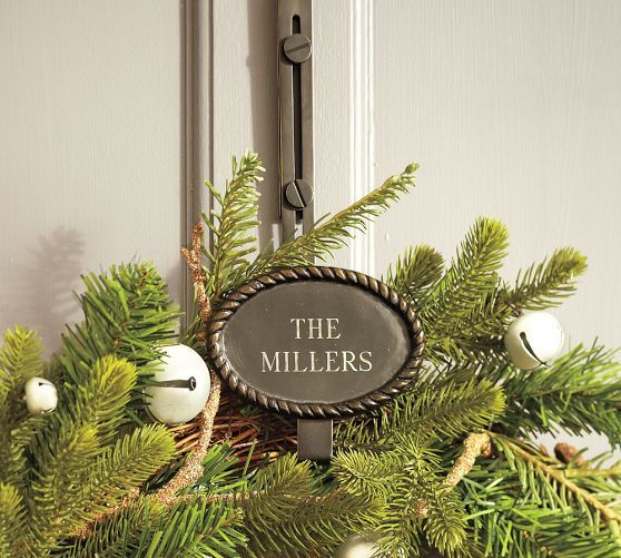 Adjustable Wreath Hanger Door Wreath Hanger Wreath Hanger Personalized Wreaths