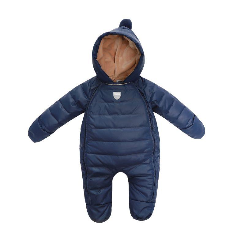 385422ef3 Baby Rompers Newborn Baby Girl Thermal Duck Down Winter Snowsuit ...