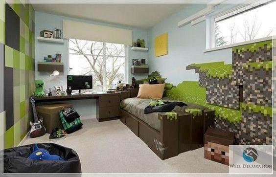 game room decor | minecraft themed | mine craft | pinterest