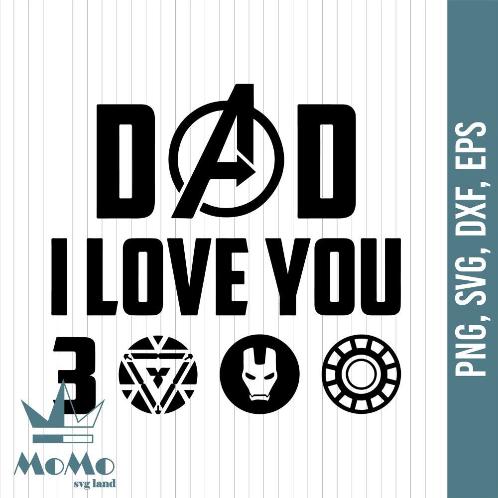 Download Dad I love you three thousand, dad svg, father svg, father ...