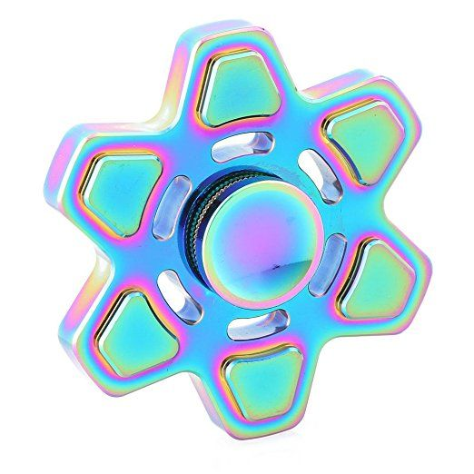 Fidget Spinner Six Leaves Rainbow Wheel EDC ADHD Toys