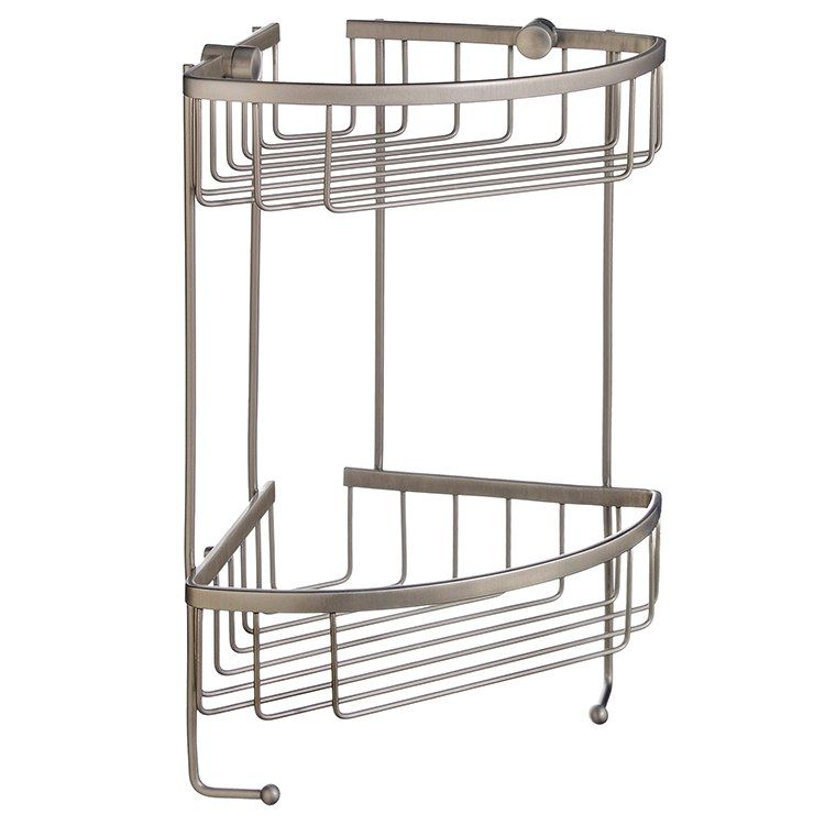 Smedbo D2031n Sideline Wall Mount Two Level Corner Shower Basket
