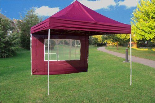 10x10 Pop Up 4 Wall Canopy Party Tent Gazebo Ez Maroon E Model By Delta Canopies More Info Could Be Found At The Image U Pop Up Tent Party Tent Instant Tent