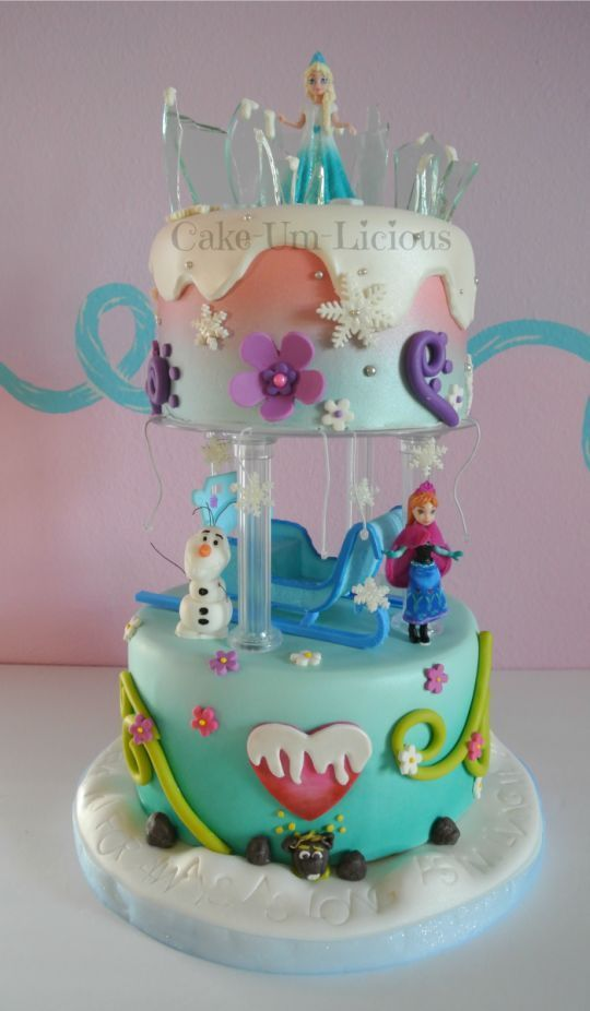 More Frozen Party Cake Ideas Inspirations Pinterest Cake