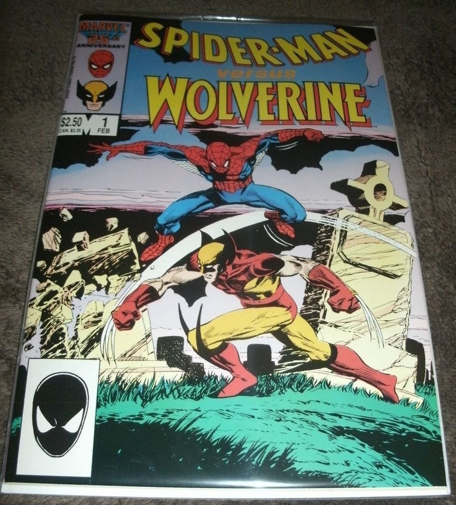 Spider-Man vs  Wolverine #1 (Feb 1986, Marvel) VF/NM | Comic