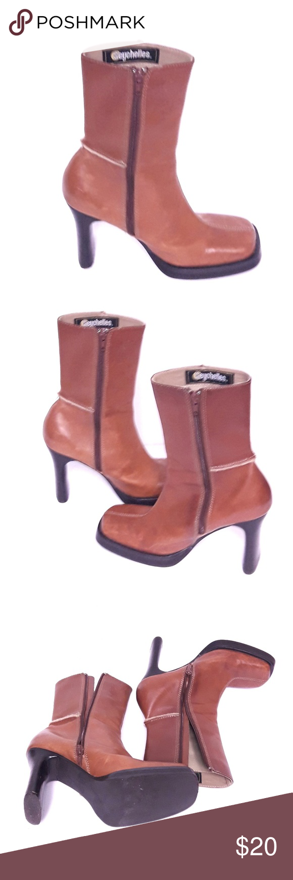 bd129147afd78b Seychelles boots In pre-owned condition Seychelles boots. Both heels have a  small chip