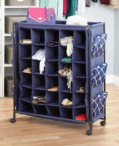 Large Rolling Shoe Storage Fashionable Organizer Shoes Rack