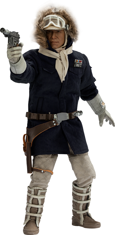 Star Wars Captain Han Solo Hoth Sixth Scale Figure By Side Star Wars Captain Han Solo Hoth Sideshow Star Wars