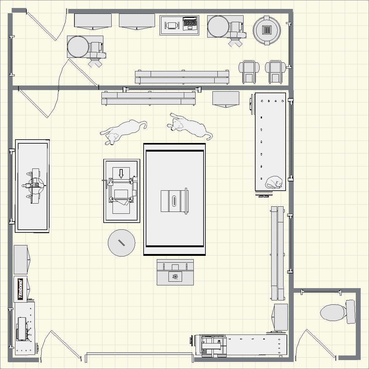 Creating using dream shop planner for Shop floor plans