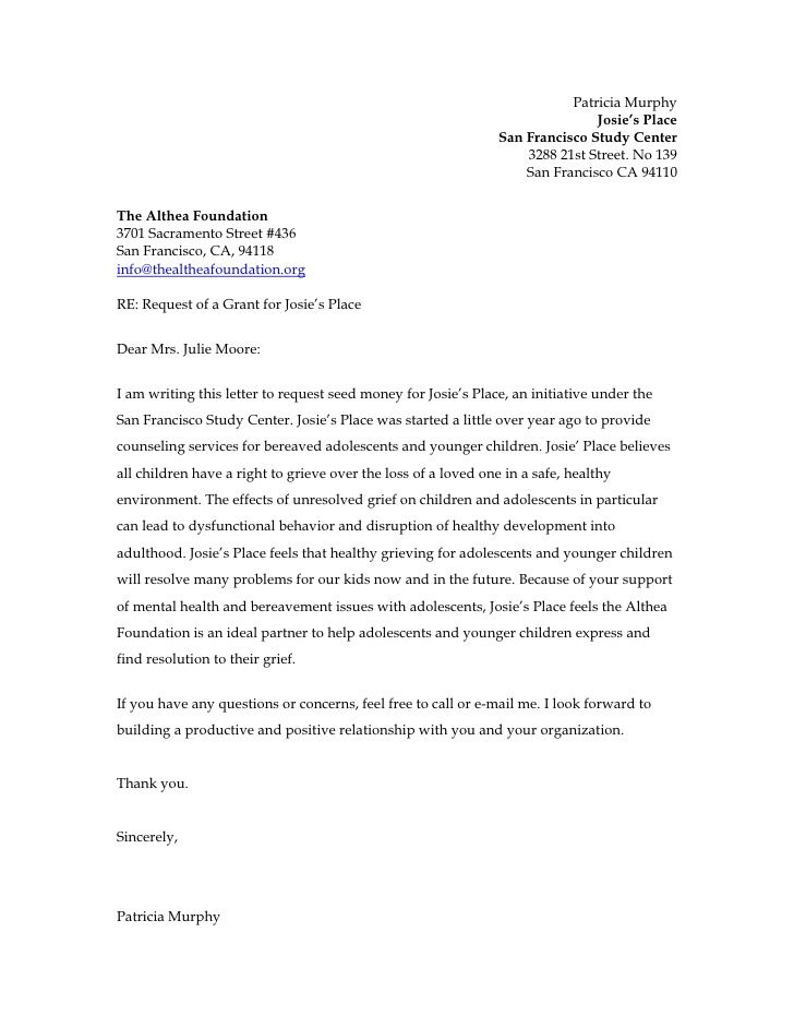 letter of support for grant proposal sample - Google Search ...