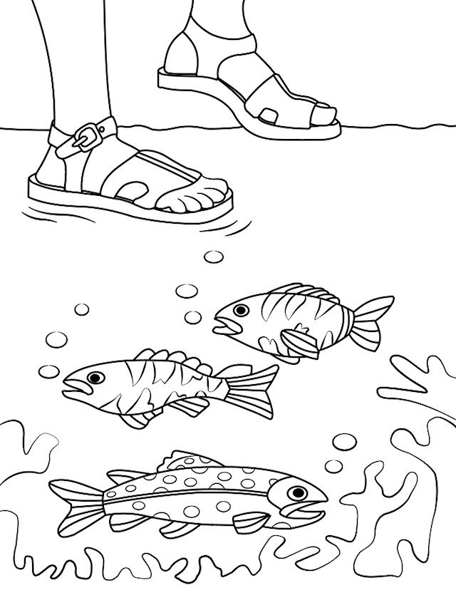 Jesus Walks On Water Coloring Page | Bible - Children\'s Handwork ...