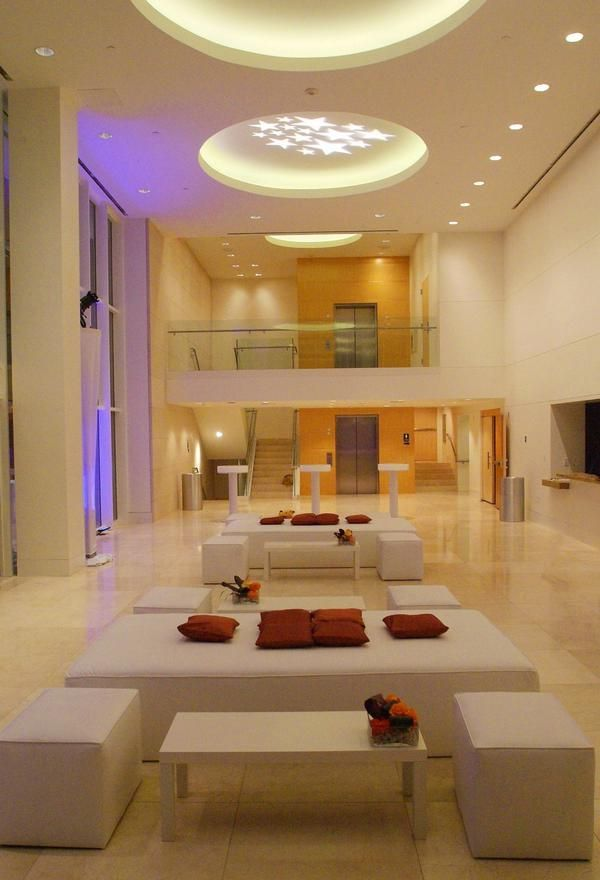 Reception in Samueli Theater at Segerstrom Center for the Arts in Costa Mesa, CA