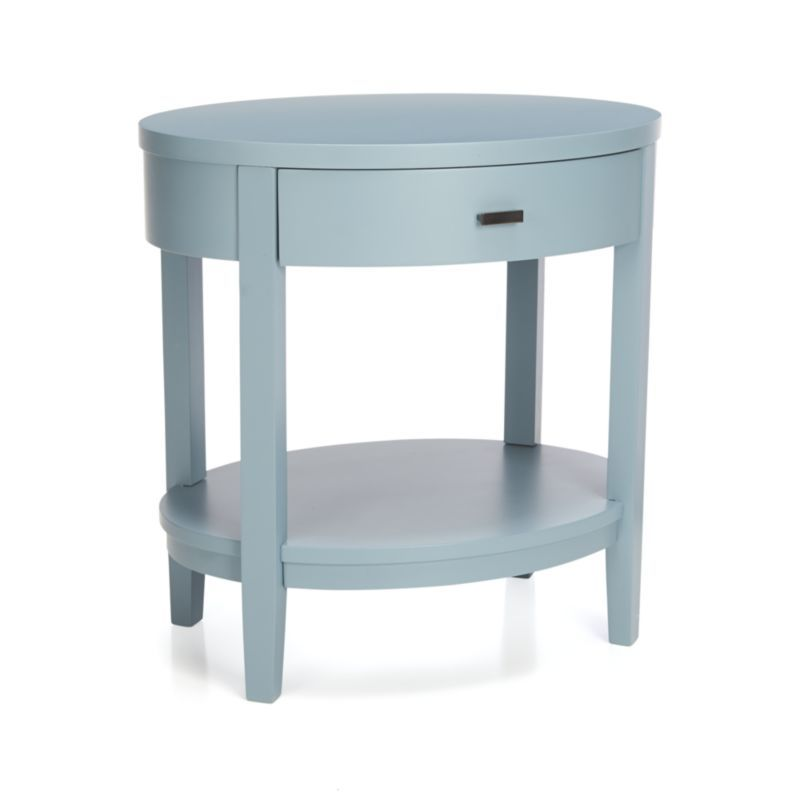 Arch Blue Oval Nightstand Chic Nightstand Barrel Furniture