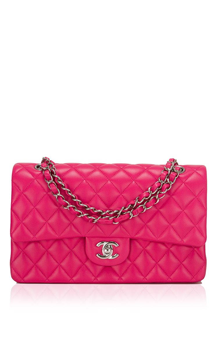 6353dd550657c4 Chanel Fuchsia Pink Quilted Lambskin Large Classic Double Flap Bag by Madison  Avenue Couture for Preorder on Moda Operandi