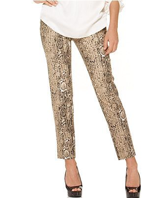 Vince Camuto Pants, Cropped Ankle Animal Printed