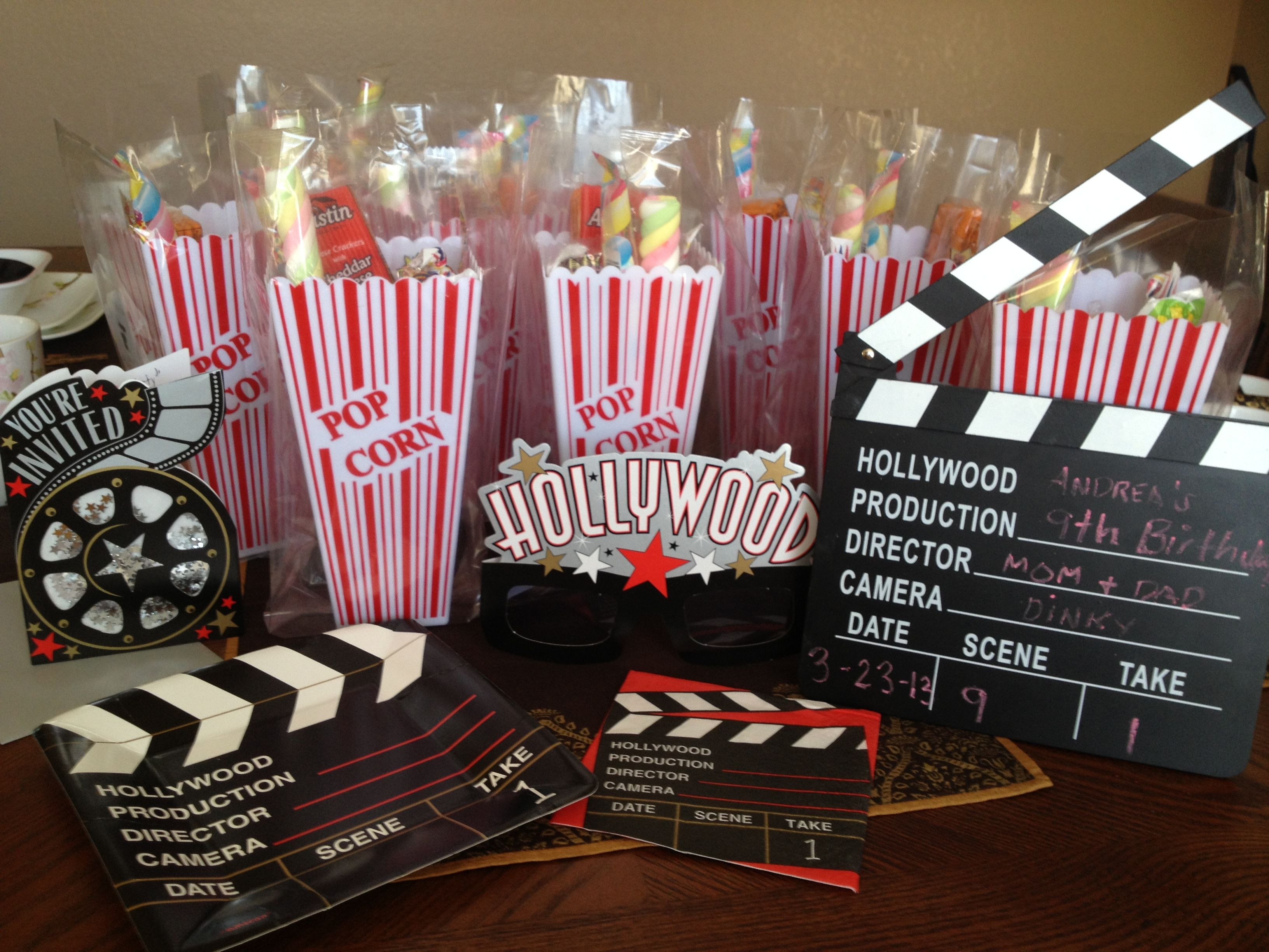 Ordinary Movie Themed Decorating Ideas Part - 4: Hollywood-movie Theme Party For Birthdays. Make It Fun For The Kids. Popcorn