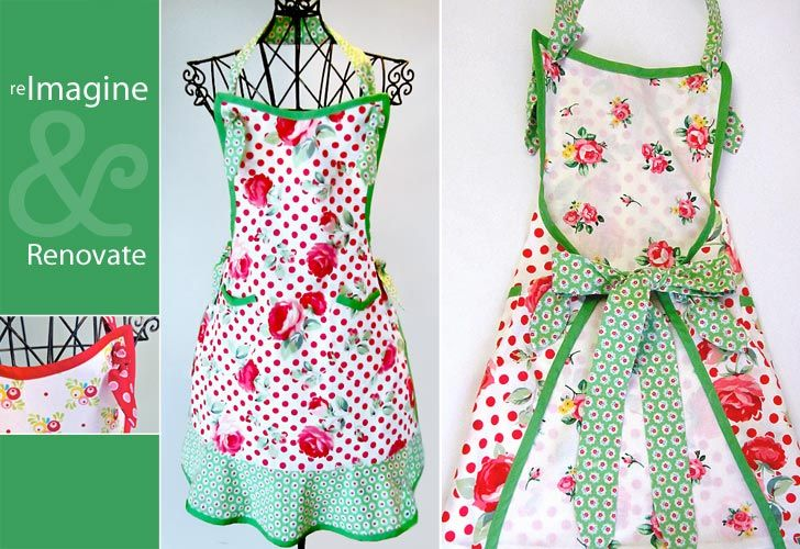Vintage Style Apron | Craft Ideas | Pinterest | Nähen, Schürze und ...