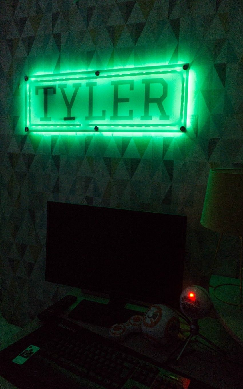 DIY LED Name Sign With Signomatic Led diy, Light up