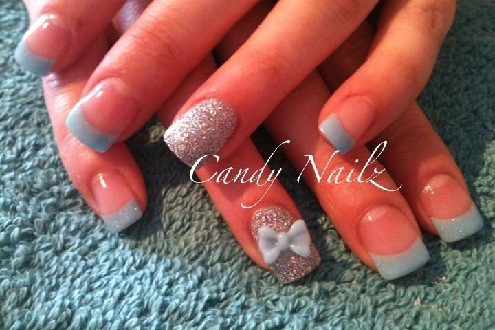 Acrylic Nails With Bows | 3D bows for nail enhancements ...