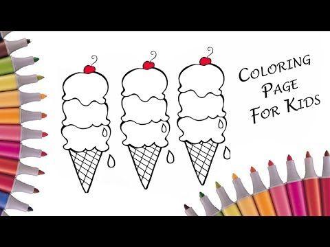 Учим цвета и разукрашиваем мороженое / Видео раскраска для ...