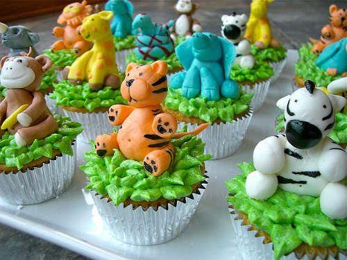 Jungle Animal Cupcakes Food Fun Pinterest Animal Cupcakes