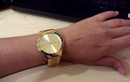 this big & bold. #MK3179 case-diameter 42mm | Gold watch ...