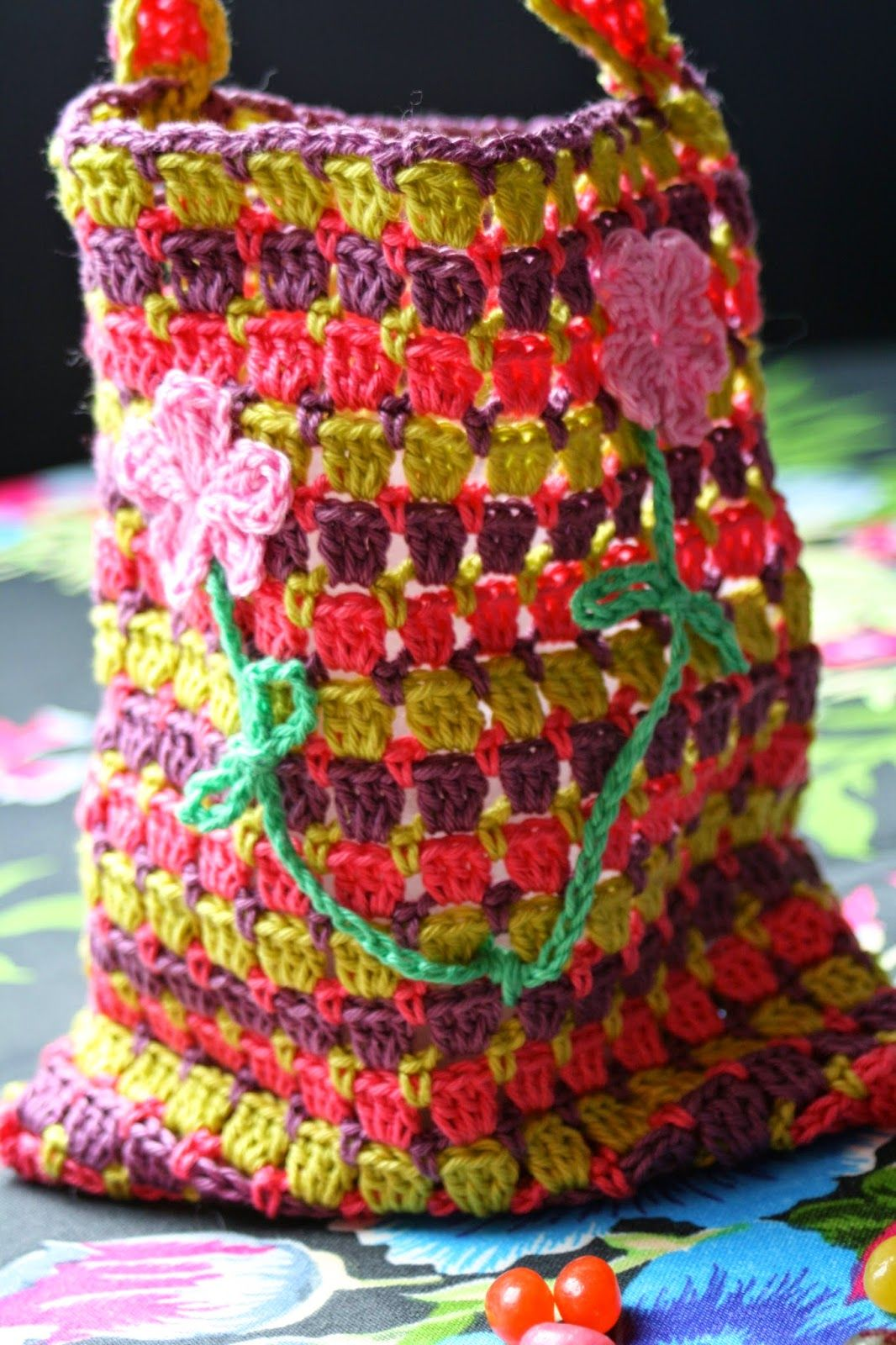 Haken Bij Saar En Mien Snoeptasje Candy Bag Crochet Crochet Purse