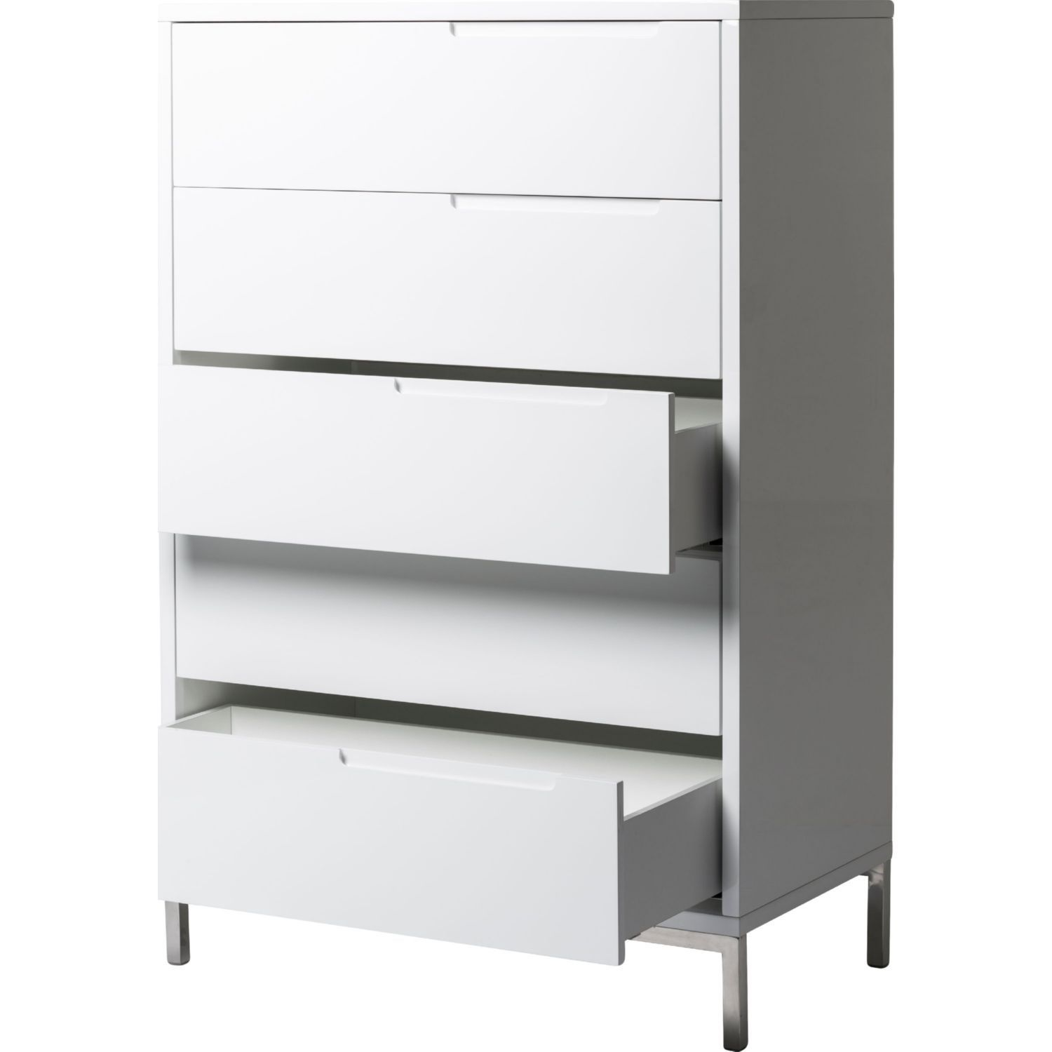 Moeus home collection er naples tall dresser in white