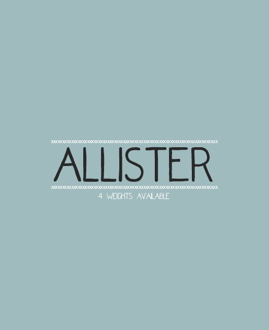 Allister, A Quirky Font Face With Only Capital Letters