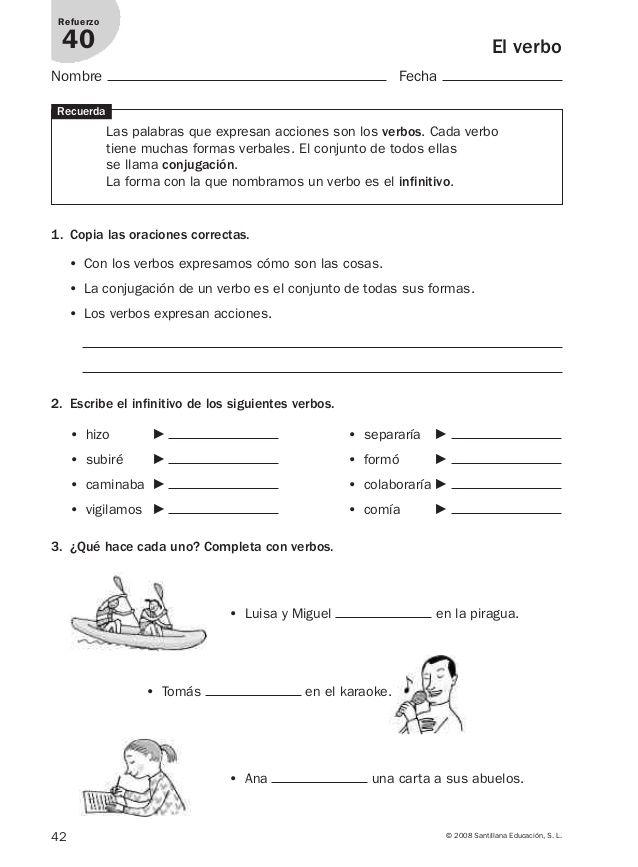 Lengua repaso y ampliación 3º primaria Santillana | Lengua ...
