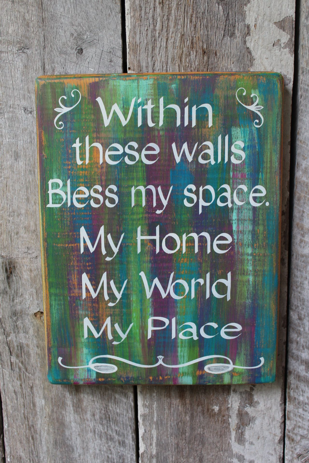 Within These Walls Bless My Space House Blessing Wood Sign Hippie Decor Boho Decor Gypsy Decor Wicca Decor Rainbow Wall Decor House Warming images