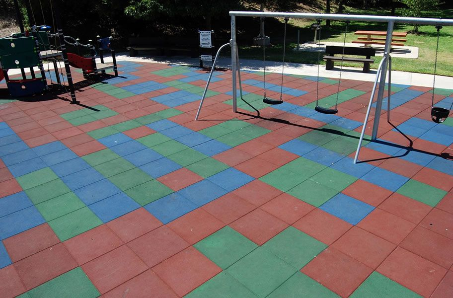 tile slides mats outdoor under wear and playground high quality swings