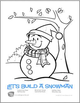 Christmas (Snowman) Free Printable ColorbyRhythm