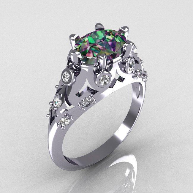 Modern Edwardian White Gold Carat Oval Rhodolite Garnet Diamond Bridal Ring  via Etsy. da962ca0f7