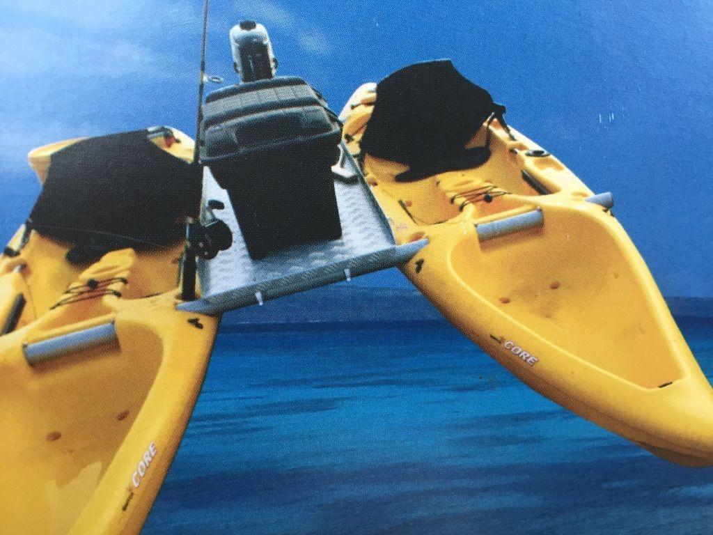 b4df4e9703 Seakayak Motorboat Platform for Engine Conv Into Two Separate Fishing  Kayaks