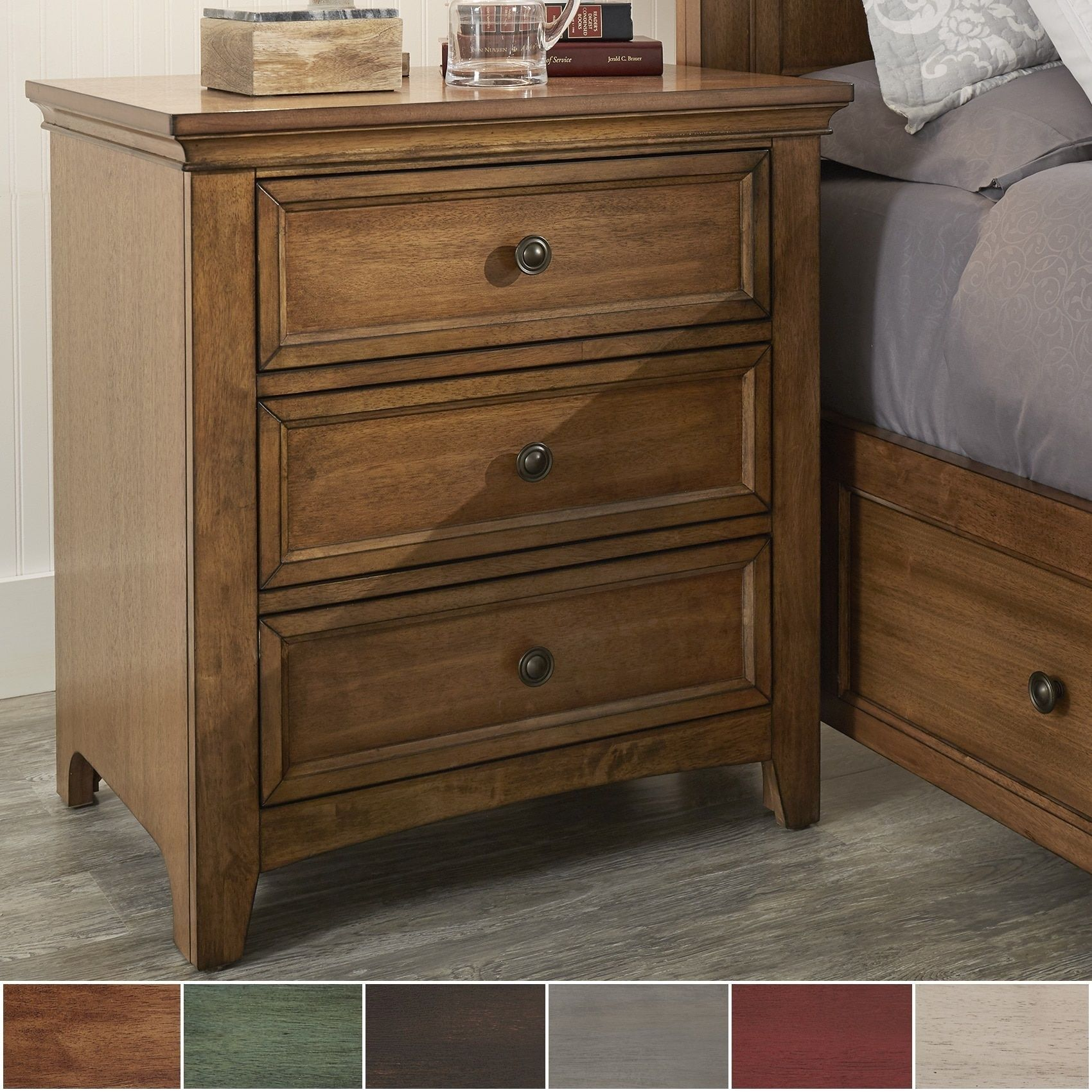 Ediline 3-drawer Wood Modular Storage Nightstand with Charging Station by  iNSPIRE Q Classic (