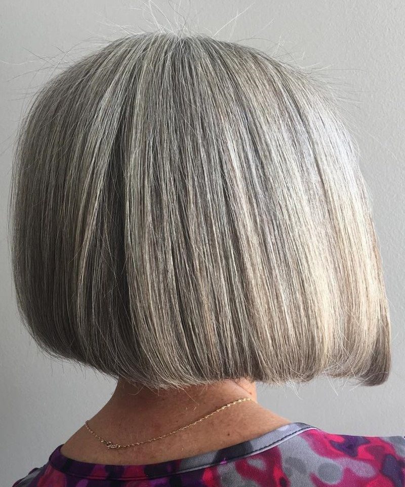 60 Gray Blunt Bob Hair Styles Bob Hairstyles For Thick Gorgeous Gray Hair