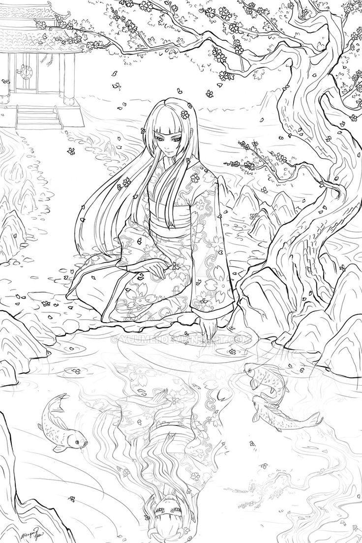 Geisha+Commission+by+yuumei.deviantart.com+on+Dev...    ...