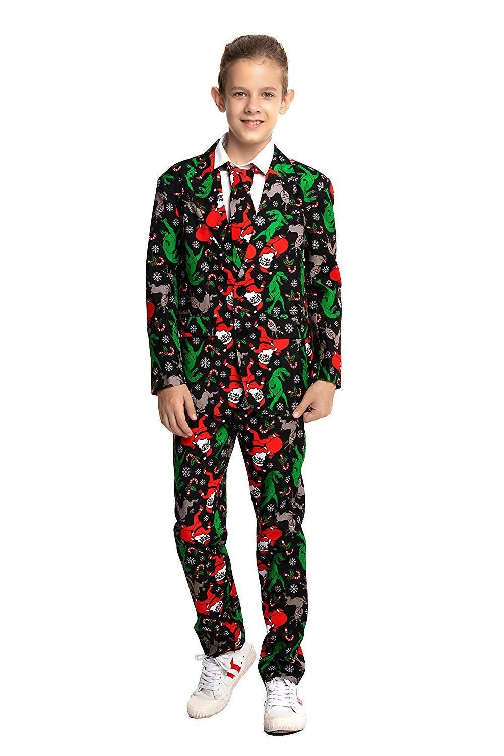 Mens Snowman Cool Costume Jacket /& Tie Christmas Party Novelty Xmas Fancy Dress