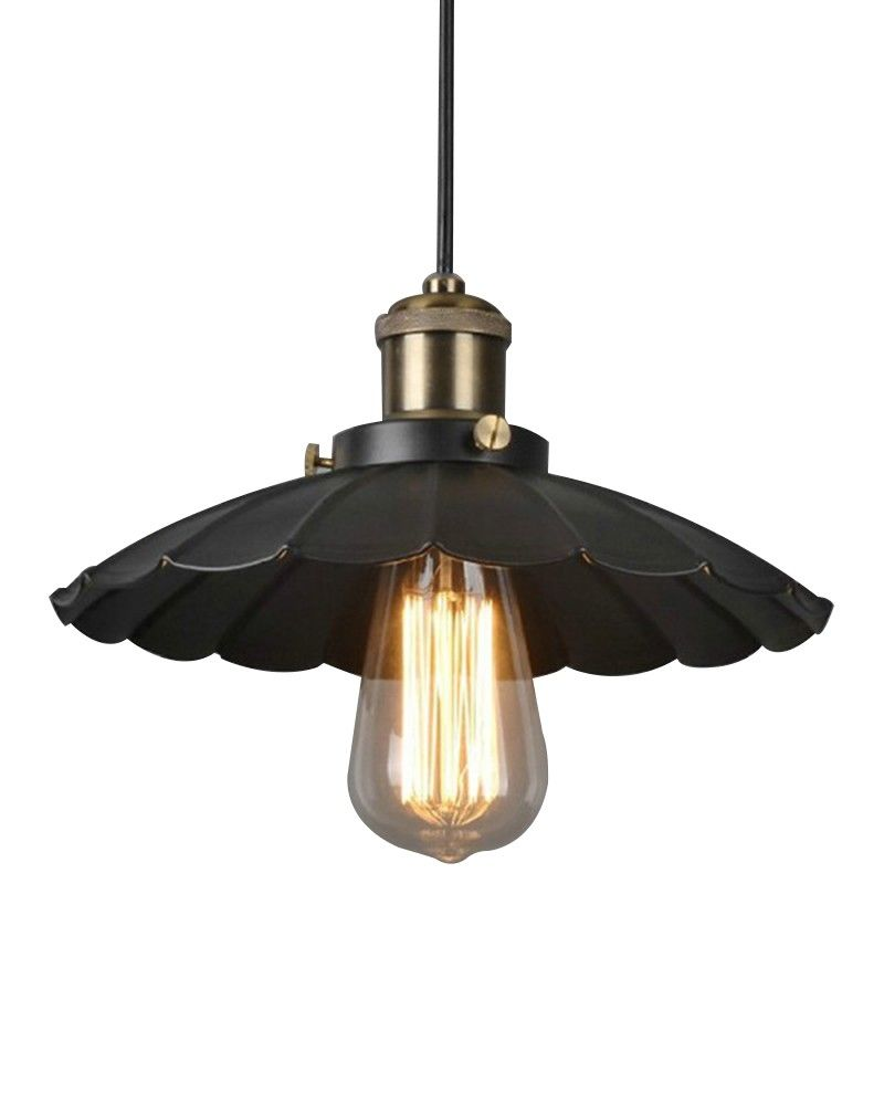 Industrial style pendant light with umbrella shade parrotuncle