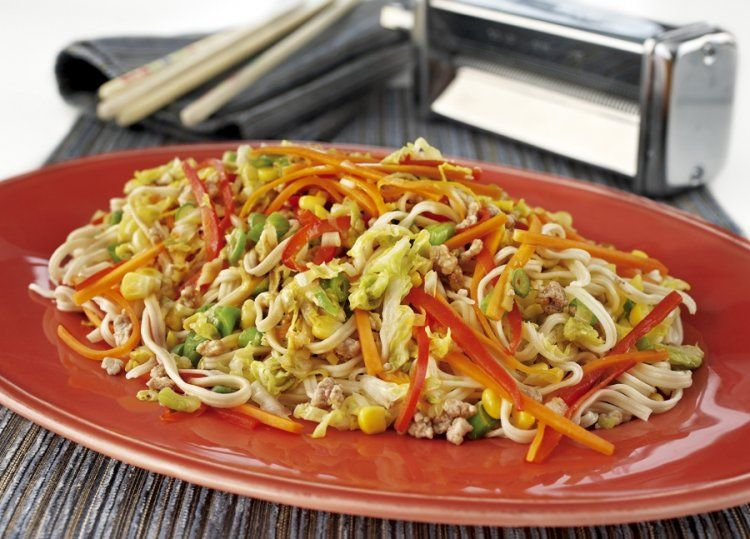 Kitchenaid stand mixer recipe family home made chow mein