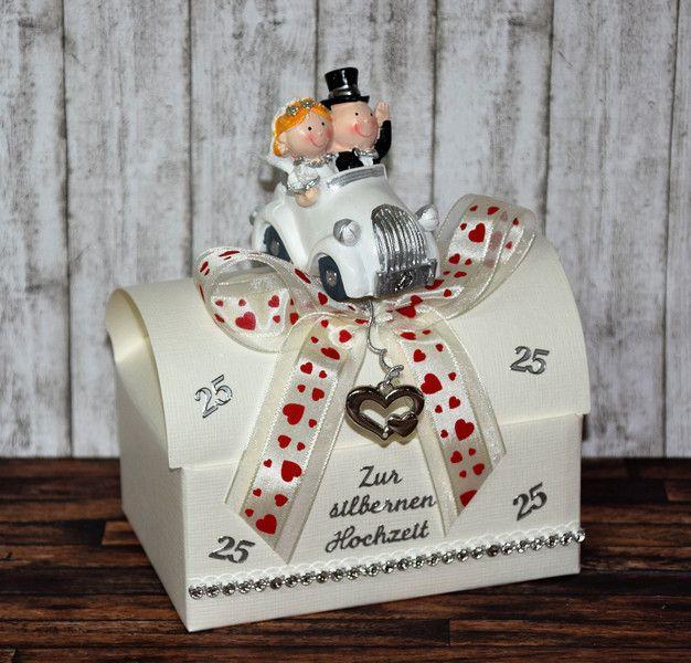 Geldgeschenk zur silber hochzeit geschenkbox - Silberhochzeit geldgeschenke verpacken ...