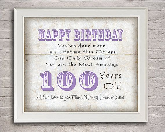 100 Years Old Birthday Gift For Mimi By Moonlightgraphics 1600