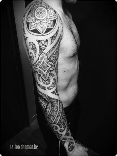 pattern tattoo sleeve, Tattoo Dagmar