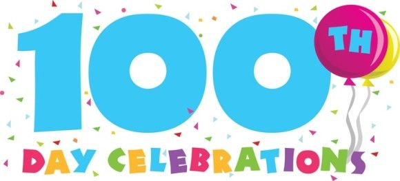 Image result for 100th day of school clipart