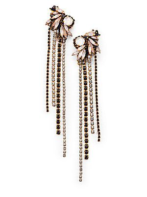 Erickson Beamon Happily Ever After Crystal Fringe Earrings