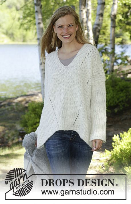 Zick Zack Knitted Jumper In Drops Air The Piece Is Worked With