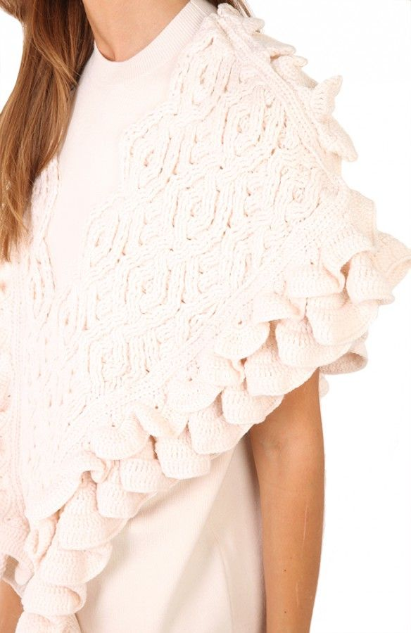 philip lam crochet edging knit sweater | GORROS... | Pinterest | Gorros